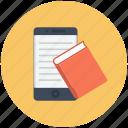 book, graduation, mobile, online education, online graduation, online study icon icon
