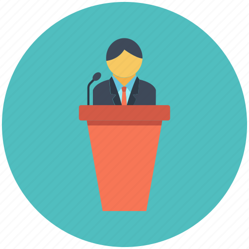 education, meeting, speech, student, teacher icon icon