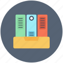 binder, book, bookshelf, data, document, documents, education, files, knowledge icon icon