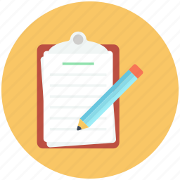 draft, list, note, notepad icon, pencil icon