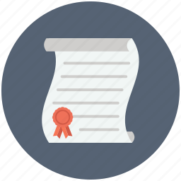 award, certificate, diploma, education, graduation icon, license, patent icon
