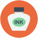 feather, ink, ink bottle, inkpot, inkwell icon icon