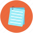 note, document, pad, paper icon, letter