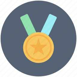 award, gold, medal, star icon icon