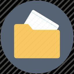 data folder, data icon, document, folder, medical folder, note, sheet icon