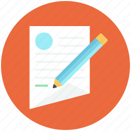 edit, notepad, paper, pen, write icon icon