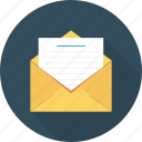 document, envelope, mail, open icon icon