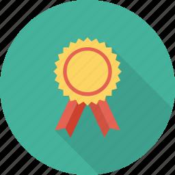 award, award badge, badge, ribbon badge, star badge icon icon