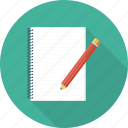 pen, notepad, office, writing icon