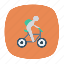bicycle, bicycling, biking, cycle, exercise, riding, sports icon