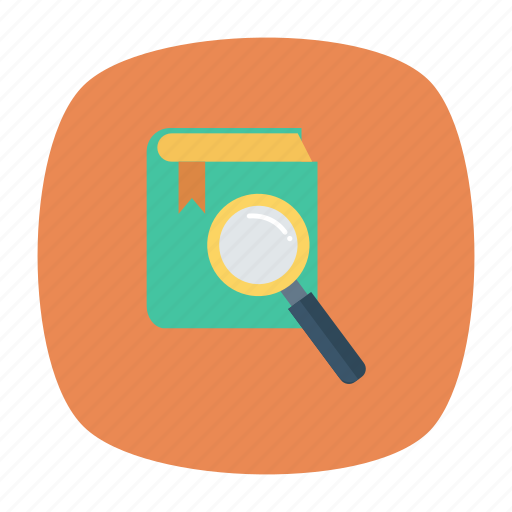 book, education, knowledge, magnify, magnifying, notebook, search icon