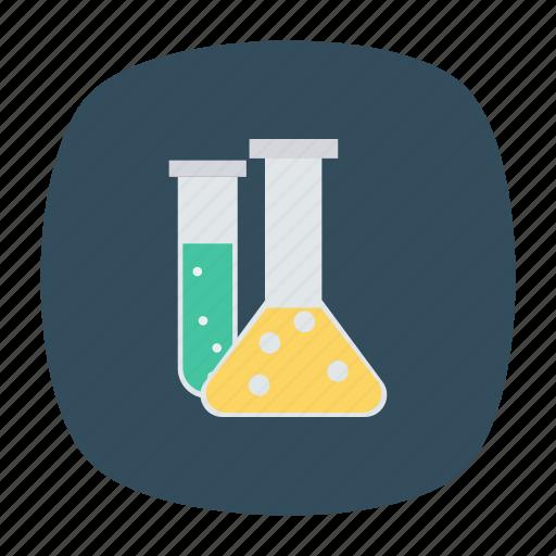 bottles, chemistry, labjars, laboratory, practical, science, test icon