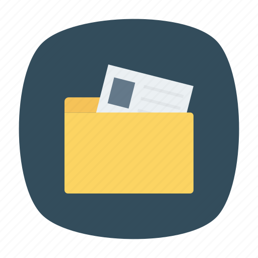 Business, document, files, folder, office, open, storage icon - Download on Iconfinder
