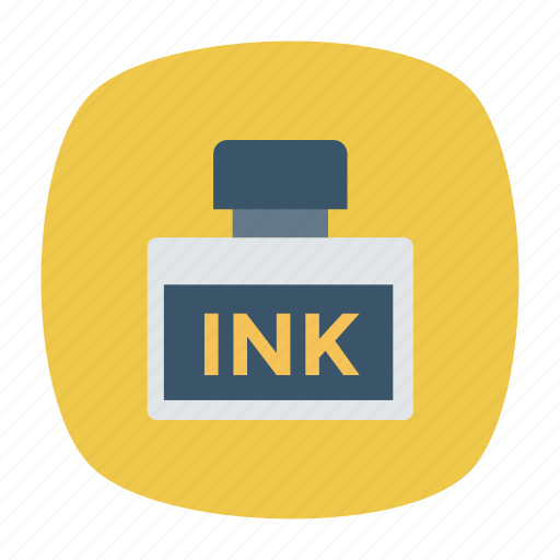 education, ink, inkbottle, inkpot, inkwell, school, write icon