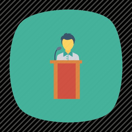analytics, business, office, presentation, seminar, strategy, training icon