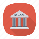 architecture, building, college, education, learning, school, university icon
