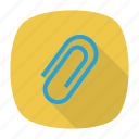 attach, clip, file, paper, staple icon