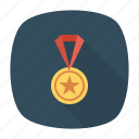 award, gold, medal, prize, ribbon, win, winner icon
