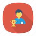 award, education, prize, ranking, study, trophy, winner icon