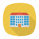 bank, building, clinic, estate, hospital, institute, school icon