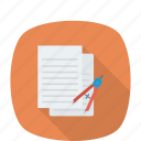 art, design, drawing, graphic, illustrator, stationary, writing icon