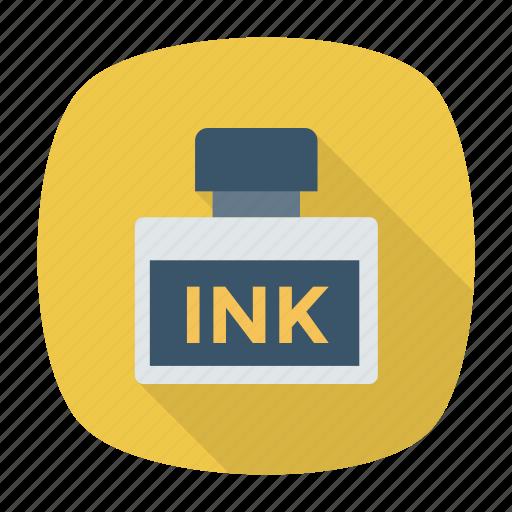 education, ink, inkbottle, inkpot, inkwell, school, write icon