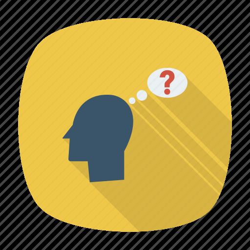 emoji, emoticon, face, idea, leadership, status, thinking icon