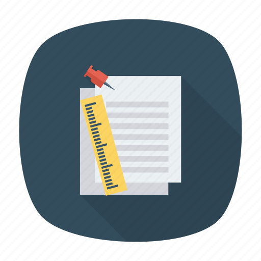 doc, file, notepad, page, paper, roler, text icon