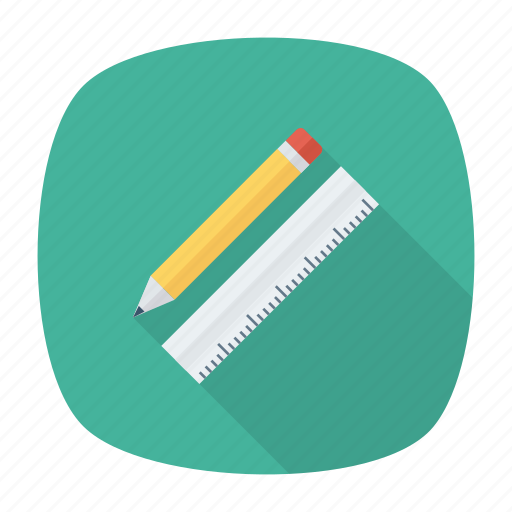 design, geometrybox, measure, office, pencil, stationery, tool icon