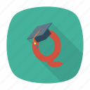 degree, education, learning, online, school, stationery, study icon
