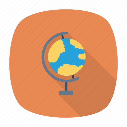 education, globle, map, pinpoint, world icon