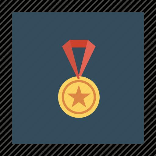 award, gold, medal, prize, ribbon, win, winner icon