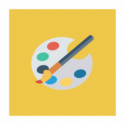 art, brush, color, paint, painting, palette, tools icon