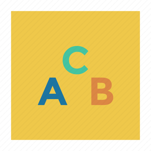 abc, abcletters, alphabets, editing, learning, letters, type icon