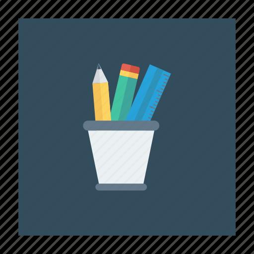 jar, office, pencilbox, pencilcase, stationery, tool icon