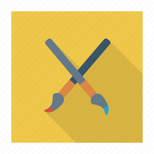 biology, brush, chemistry, color, paint, paintbrush, palette icon