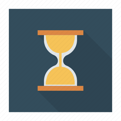 business, clock, glass, hour, management, time, timer icon
