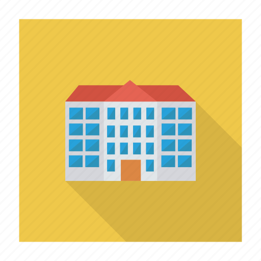 bank, building, clinic, estate, hospital, institute, school icon