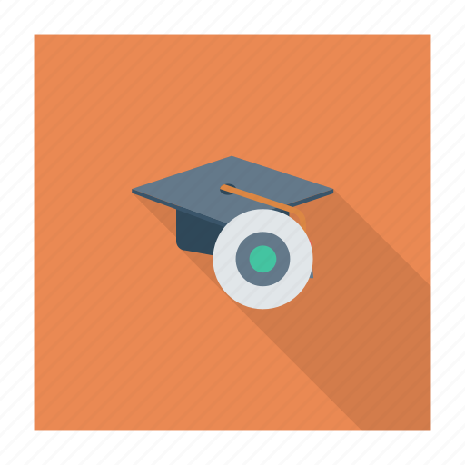 disk, education, graduation, hat, physics, school, science icon