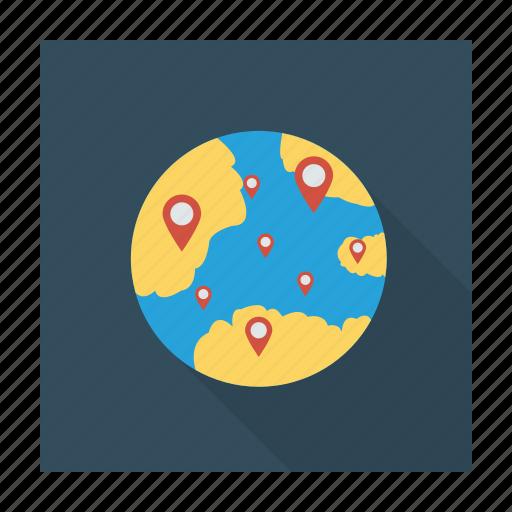earth, global, globe, location, online, presence, world icon