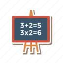 approve, blackboard, board, chalkboard, schoolboard, tick, write icon