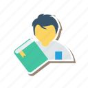 book, graduation, learning, notebook, school, student, study icon