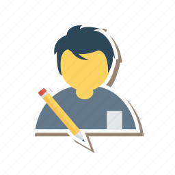 book, education, homework, male, page, student, study icon
