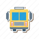 bus, school, schoolbus, transport, transportation, travel, vehicle icon