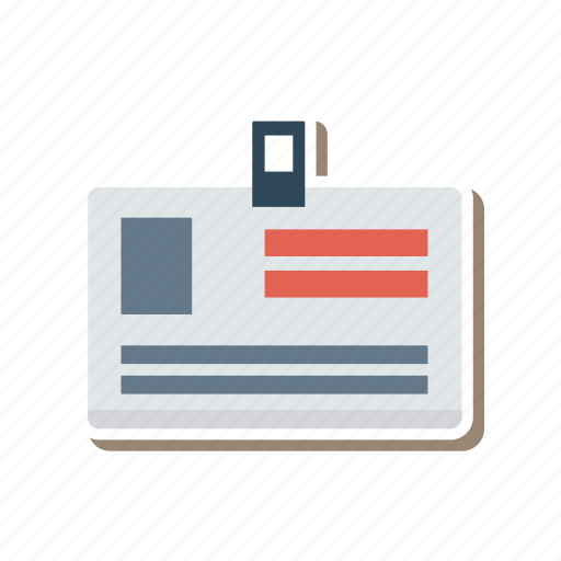 businesscard, card, employee, id, identity, identitycard, nameplate icon