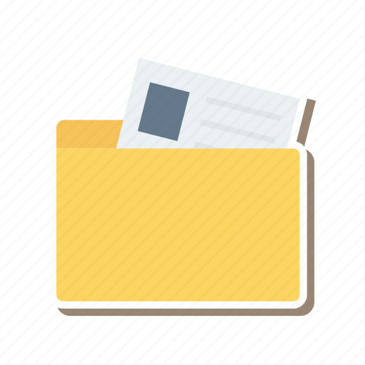 business, document, files, folder, office, open, storage icon