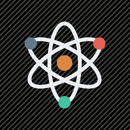 atom, chemistry, laboratory, physics, proton, research, science icon