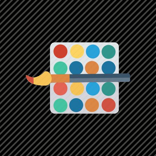 brush, color, literature, paint, paintbrush, palette, select icon