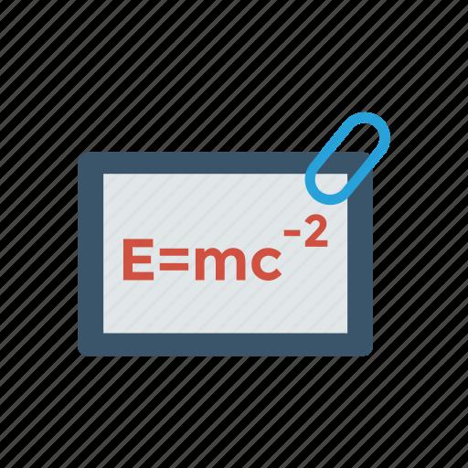 board, emc, emc2, formula, physics, science icon