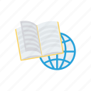 book, earth, education, glob, internet, online, world icon